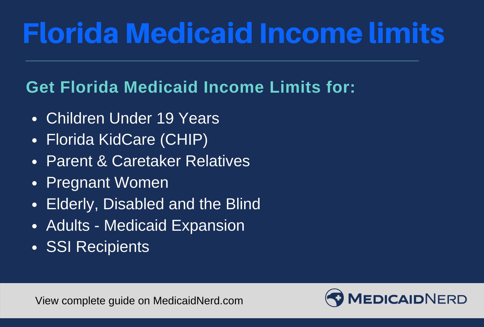 """Florida Medicaid Income Limits"""